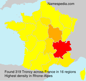 Surname Troncy in France