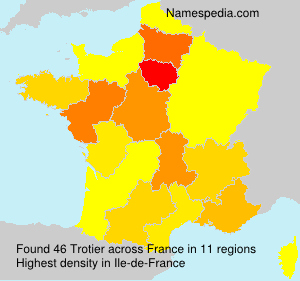 Surname Trotier in France