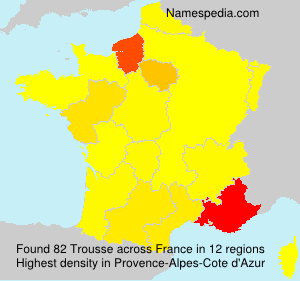 Surname Trousse in France