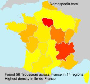Familiennamen Trousseau - France