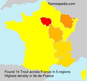 Familiennamen Trout - France