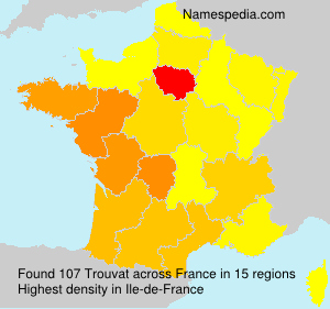 Surname Trouvat in France