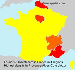 Surname Trovati in France