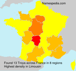 Surname Troya in France