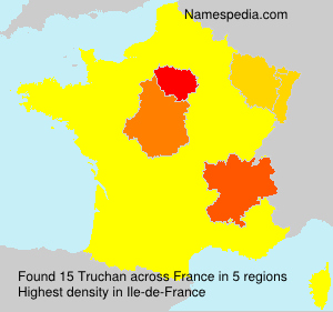 Surname Truchan in France