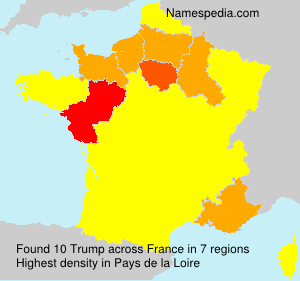 Surname Trump in France