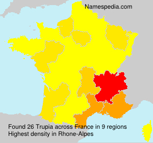 Surname Trupia in France