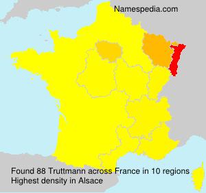 Familiennamen Truttmann - France