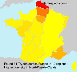 Familiennamen Tryoen - France