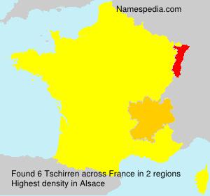 Surname Tschirren in France