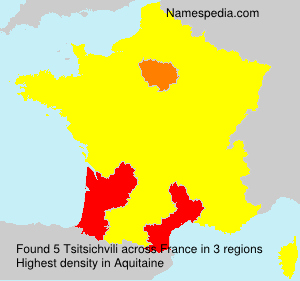 Surname Tsitsichvili in France