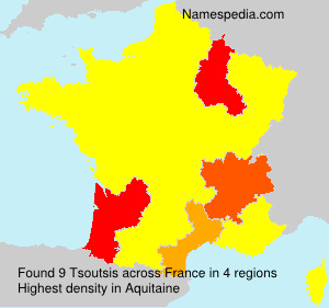 Surname Tsoutsis in France