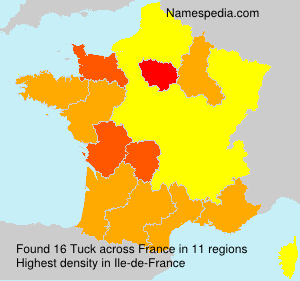 Surname Tuck in France