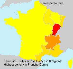 Surname Tuetey in France