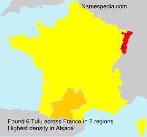 Surname Tulu in France