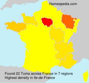 Surname Tuma in France
