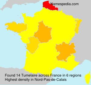 Surname Tumelaire in France