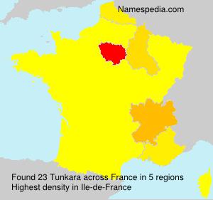 Surname Tunkara in France