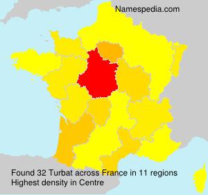 Surname Turbat in France
