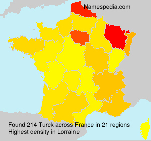 Surname Turck in France