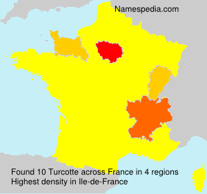 Surname Turcotte in France