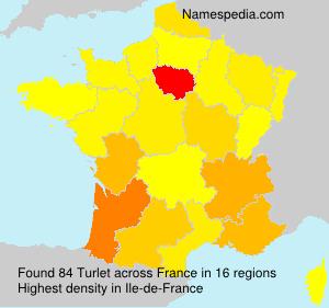 Surname Turlet in France