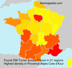 Surname Turner in France