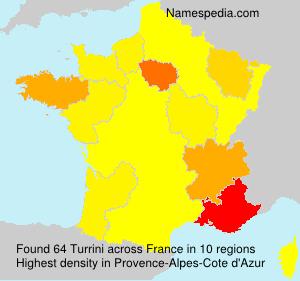 Surname Turrini in France