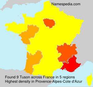 Surname Tuson in France