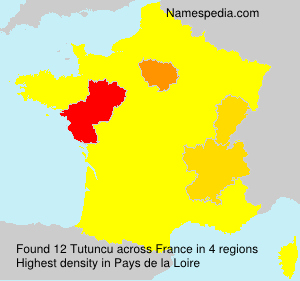 Surname Tutuncu in France