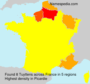 Surname Tuyttens in France