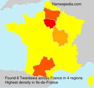 Surname Twardawa in France