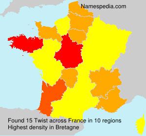 Surname Twist in France