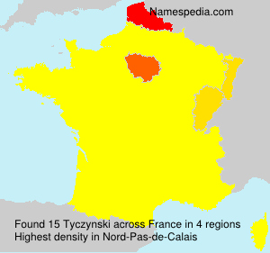 Surname Tyczynski in France