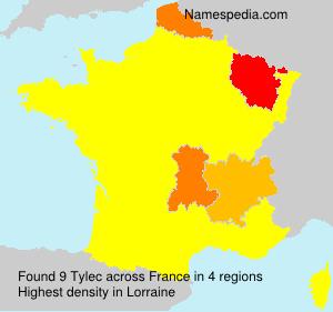 Familiennamen Tylec - France