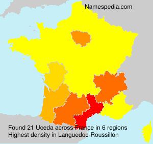 Surname Uceda in France