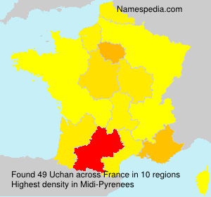 Surname Uchan in France