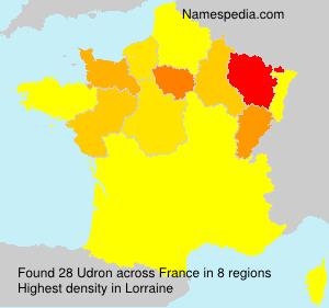 Surname Udron in France