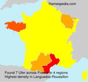 Surname Ufer in France