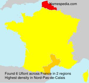 Familiennamen Uflont - France