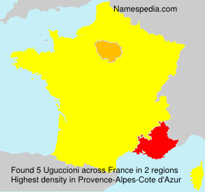 Surname Uguccioni in France