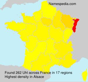 Surname Uhl in France