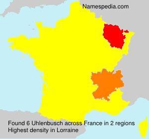 Surname Uhlenbusch in France