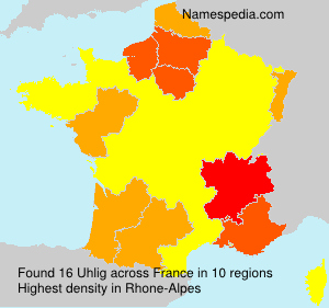 Surname Uhlig in France