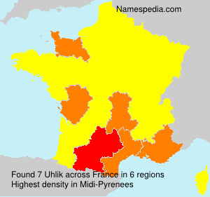 Surname Uhlik in France