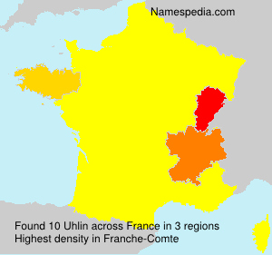 Surname Uhlin in France