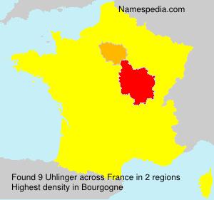 Surname Uhlinger in France