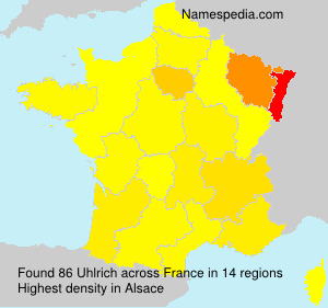 Surname Uhlrich in France