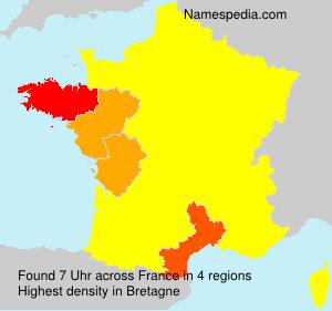 Surname Uhr in France