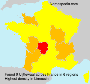 Surname Uijttewaal in France